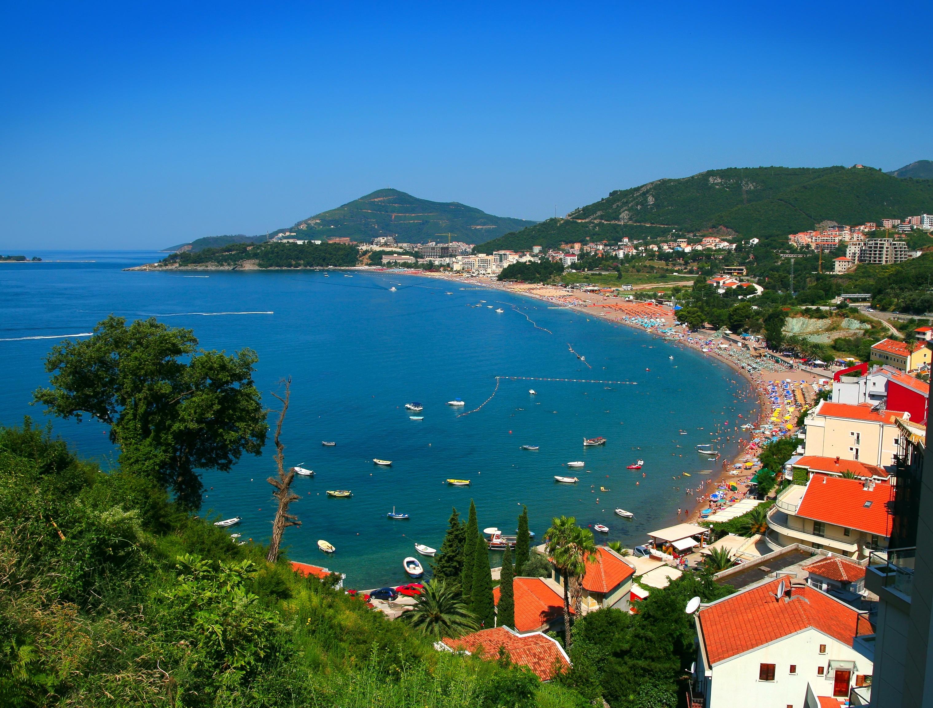 Big panoramic view of budva  montenegro