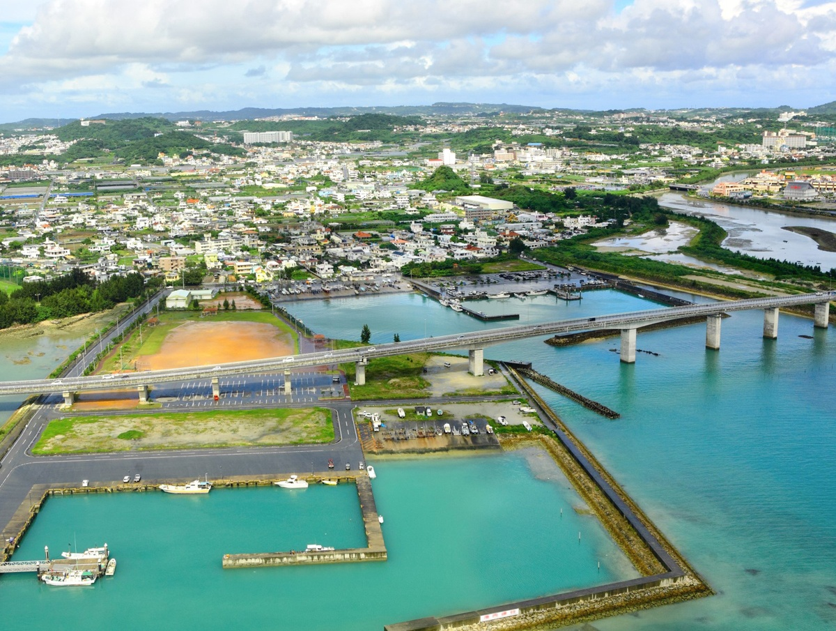 Big aerial photo of okinawa